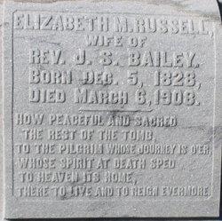 Elizabeth M. <i>Russell</i> Bailey