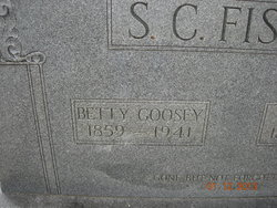 Elizabeth Betty <i>Goosey</i> Fisher