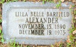 Lilla Belle <i>Barfield</i> Alexander