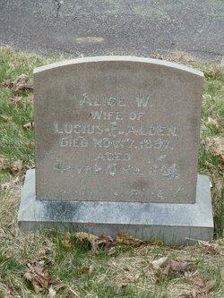 Alice Wirtman <i>Harlow</i> Alden