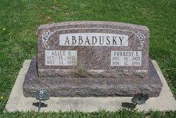 Alice B. <i>Devln</i> Abbadusky