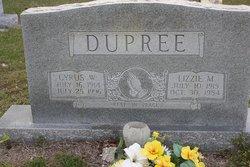 Lizzie Rebecca <i>Mangum</i> Dupree