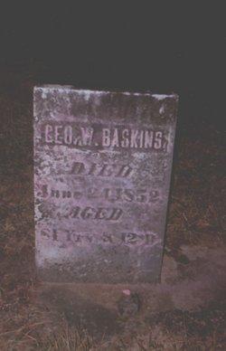 George W Baskins