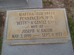 Martha Elizabeth <i>Pennington</i> Bacon