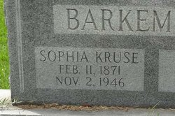 Emma Auguste Sophia <i>Kruse</i> Barkemeyer