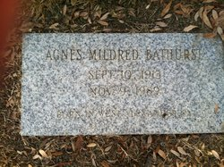Mrs Mildred Agnes <i>Anderson</i> Bathurst