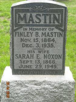 Sarah E. <i>Noxon</i> Mastin