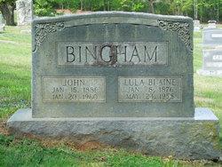 Lula Rosetta <i>Blaine</i> Bingham