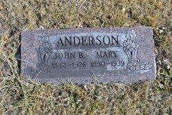 Mary <i>Wilson</i> Anderson