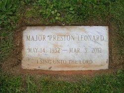 Maj Marvin Preston Leonard