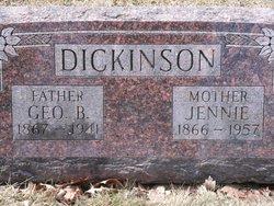 Genevieve Alfreda Jennie <i>Cramer</i> Dickinson