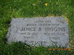 Janice B <i>Jones</i> Higgins