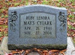 Ruby Lenora <i>Mays</i> Cyiark