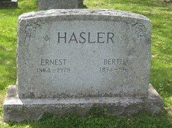 Bertha E <i>Wernli</i> Hasler