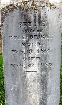 Elizabeth Moore Bettie <i>McClung</i> Bright