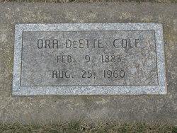 Ora DeEtte Cole