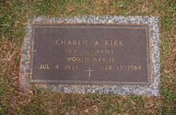 Pvt Charlie A. Kirk