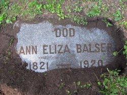 Ann Eliza Balser