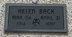 Helen M <i>Bigham</i> Back