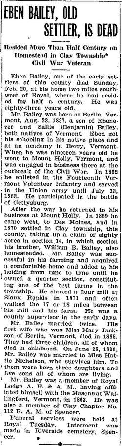 Ebenezer Eben Bailey, Jr