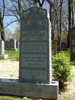 Dr Iris <i>Miroy</i> Ovshinsky