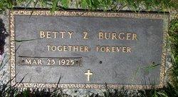 Betty <i>Zane</i> Burger
