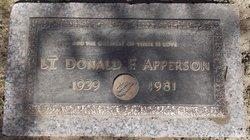 Lieut Donald F Apperson