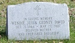 Wendie Julia <i>Gedney</i> David