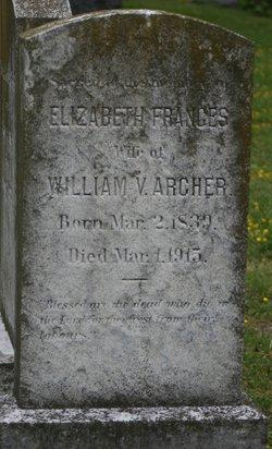 Elizabeth Frances <i>Allmand</i> Archer