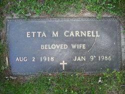 Etta M Carnell