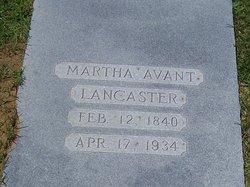 Martha <i>Avant</i> Lancaster