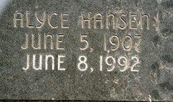 Alyce Marye <i>Hansen</i> Ashton
