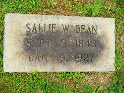 Sarah J. Sallie <i>Warlick</i> Dean