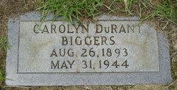 Carolyn <i>Durant</i> Biggers