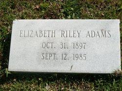Elizabeth <i>Riley</i> Adams