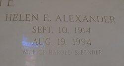 Helen <i>Alexander</i> Bender