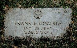 Pvt Frank E Edwards