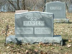 Alice E <i>Hawley</i> Hansen