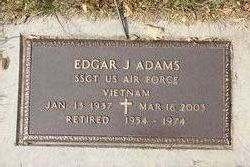 Edgar J Adams