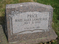 Mary Alice <i>Langer</i> Price