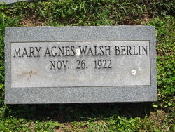 Mary Agnes <i>Walsh</i> Berlin