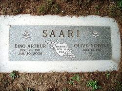 Olive Mildred <i>Washburn</i> Saari