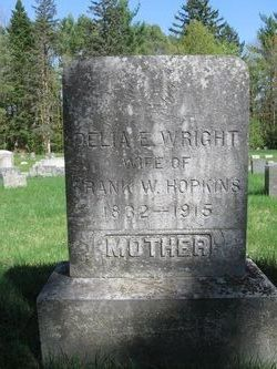 Delia Elizabeth <i>Wright</i> Hopkins