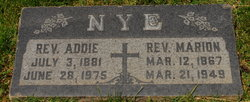Rev. Marion Stanley Nye