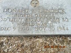 Lieut Donald R Landeck