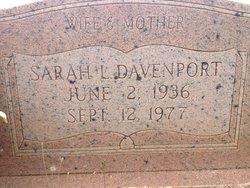 Sarah Lucinda <i>Hobby</i> Davenport