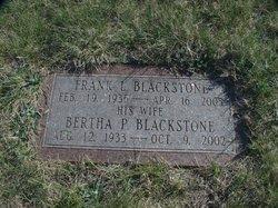 Bertha P Blackstone