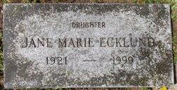 Jane Marie Ecklund