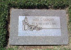Alta Levessie <i>Goldsmith</i> Langley