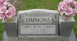 Carrie Pearl <i>Larkin</i> Simmons
